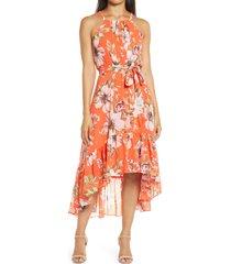 women's vince camuto floral chiffon halter dress