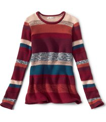 mixed stripe roll neck sweater