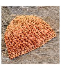 cotton hat, 'fresh tangerine' (guatemala)