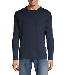long-sleeve cotton pocket tee
