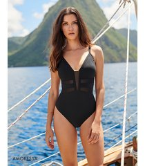gold standard ingot medium control one-piece swimsuit