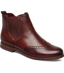 woms boots stövletter chelsea boot brun tamaris