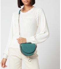 see by chloé women's mara shoulder bag - hazy pine