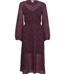 kaesha dress ls knälång klänning röd tommy hilfiger