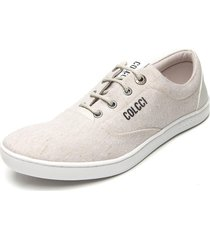sapatênis colcci lettering off-white - kanui