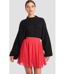na-kd mini pleated skirt - red