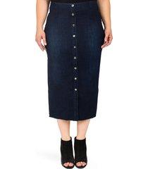 standards & practices elain denim pencil skirt, size 3x in blue at nordstrom