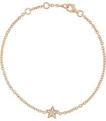 alinka 18kt rose gold stasia mini star diamond bracelet - metallic