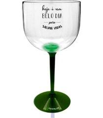 2 taã§as gin com base verde acrãlico personalizada enfermagem - incolor - dafiti