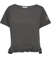 sally top t-shirts & tops short-sleeved zwart odd molly