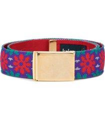 kolor woven floral belt - multicolour