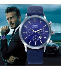 mens watch north luxury casual leather strap relogio masculino