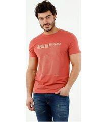 camiseta de hombre, cuello redondo, manga corta, con estampado berlin revolution