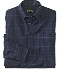 battenkill cotton blend long-sleeved shirt / regular, navy brown, medium