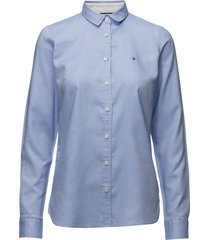 heritage regular fit overhemd met lange mouwen blauw tommy hilfiger