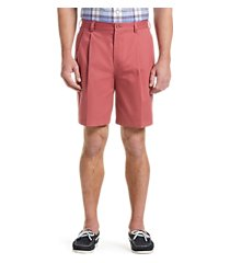 traveler collection traditional fit pleated front twill shorts - big & tall clearance by jos. a. bank