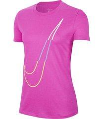 camiseta dri-fit legend icon clash nike mujer ct7352-601 rosa