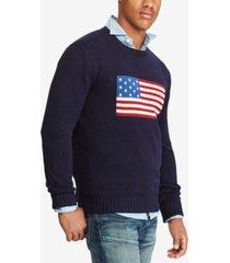 polo ralph lauren men's american flag cotton sweater