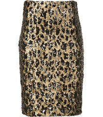 alice+olivia ramos sequin fitted skirt - gold