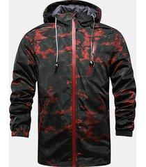 giacca da uomo antivento resistente all'acqua per la primavera autunno
