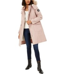 calvin klein jeans hooded parka with removable puffer jacket