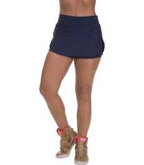 shorts saia miss blessed brocado feminina