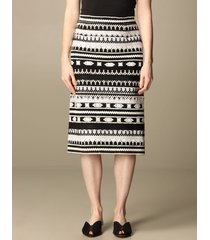 ermanno scervino skirt ermanno scervino skirt in cotton and wool blend