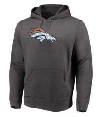 majestic denver broncos men's distressed logo hoodie