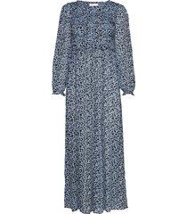 2nd angelina blossom maxi dress galajurk blauw 2ndday