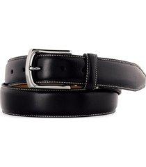men's big & tall johnston & murphy calfskin leather belt, size 46 - black