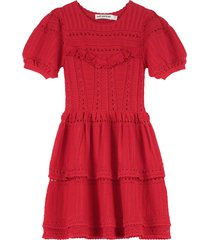 self-portrait knitted lace dress