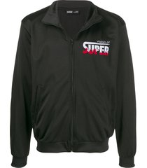 vision of super flames logo jacket - black