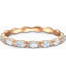 anello vittore marquise, bianco, placcato oro rosa