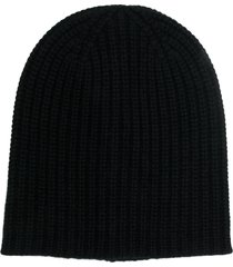 alex mill ribbed beanie - black