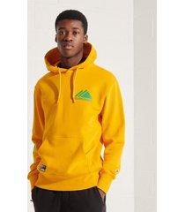 superdry m2011335a mono hooded sweater rua utah gold -