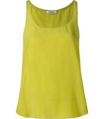 dorothee schumacher scoop neck silk vest top - yellow