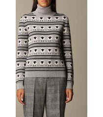 boutique moschino sweater boutique moschino pullover in jacquard virgin wool