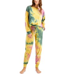 jenni women's tie-dyed loungewear set, created for macy's