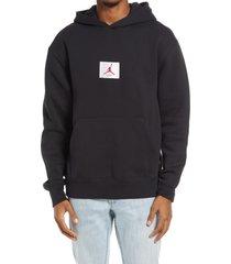 men's jordan flight essentials men's hooded sweatshirt, size x-small - black