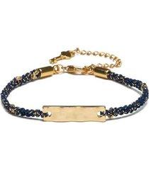 pulseira key design diana gold feminina