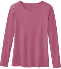 biologisch katoenen shirt met ronde hals en lange mouwen, azalea 34