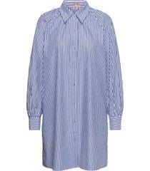 crispy organic cotton shirt dress with gathers at neckline dresses shirt dresses blå scotch & soda
