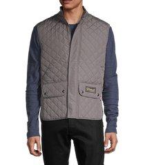 belstaff men's diamond-quilted vest - grey - size 48 (38)