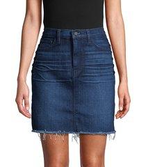 hudson women's lulu lace-up side denim skirt - nightfall - size 26 (2-4)
