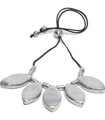 collar de mujer plateado 5 ovale double point by vestopazzo