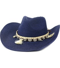 nzcm094 outdoor men women hat seaside beach sun cowboy hat