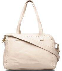 large bag bags top handle bags crème depeche