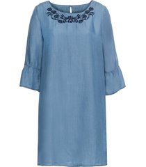 abito in tencel (blu) - bodyflirt
