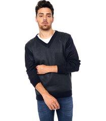 sweater azul moni tricot