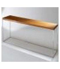 aparador mesa lateral apoio sala lorena tabaco